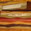 boites mouchoirs ocre-brun