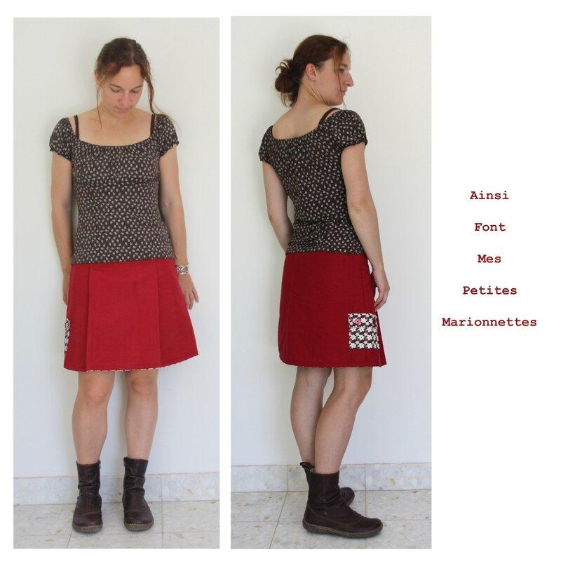 jupe toile rouge rigide 3