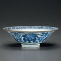 A blue and white conical bowl, shunzhi period (1644-1661)