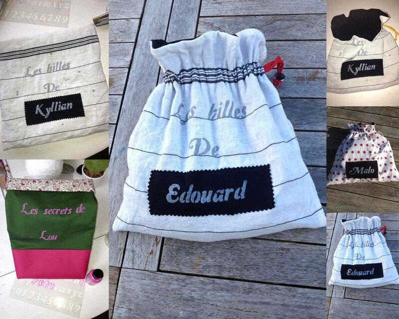 sac de billes et sac à secrets, cadeaux d'anniversaires personnalisés