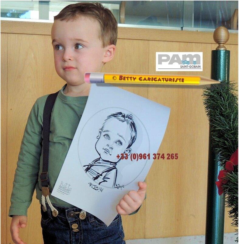 garcon caricaturiste artiste caricature portrait spectacle REIMS