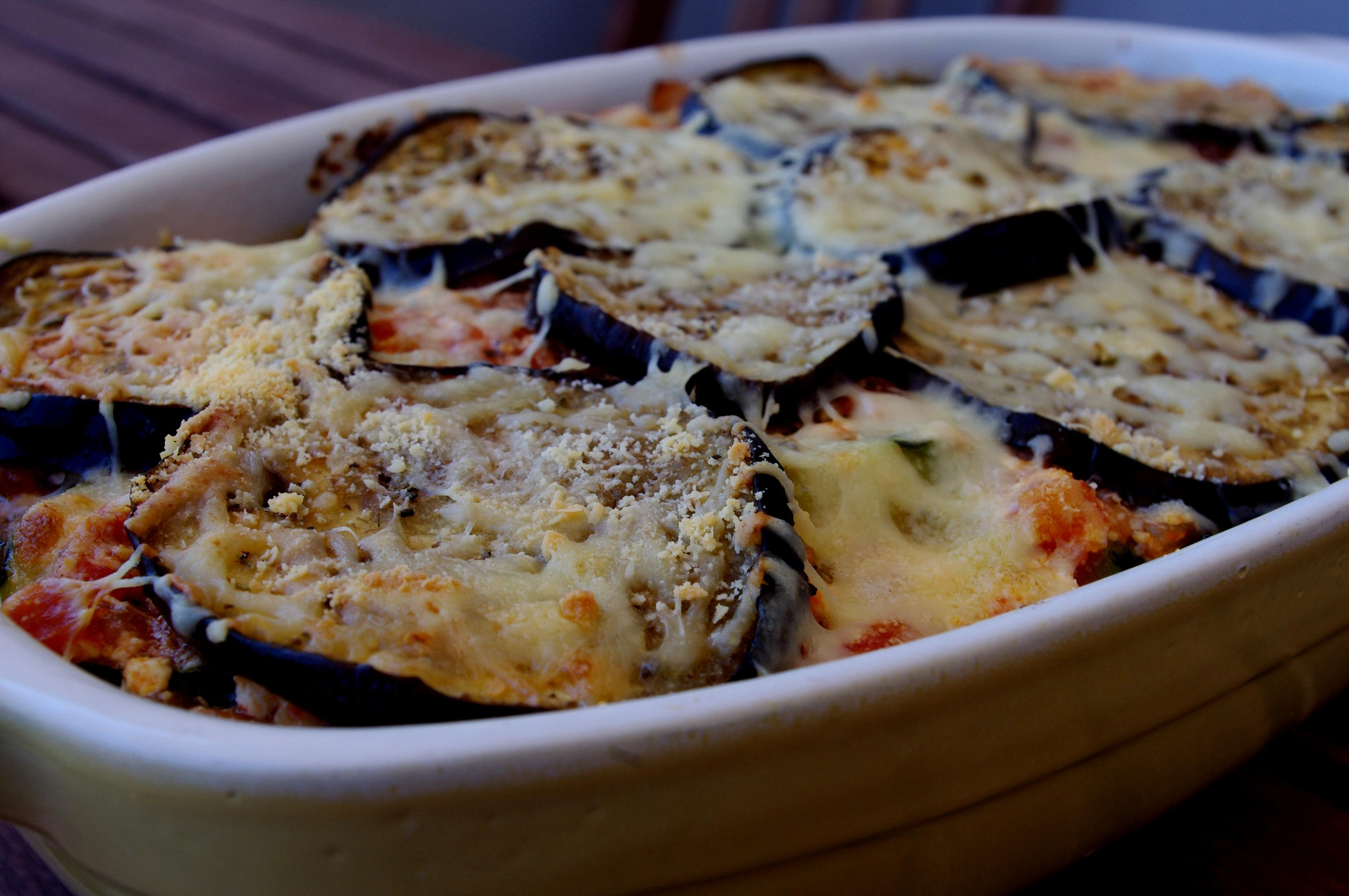 gratin d 39 aubergines r ties la tomate et ricotta fa on. Black Bedroom Furniture Sets. Home Design Ideas