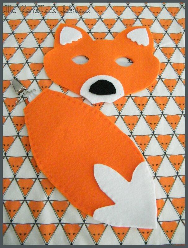 masque et queue de renard, déguisement1