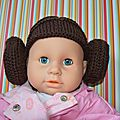 Star wars : bonnet princesse léïa