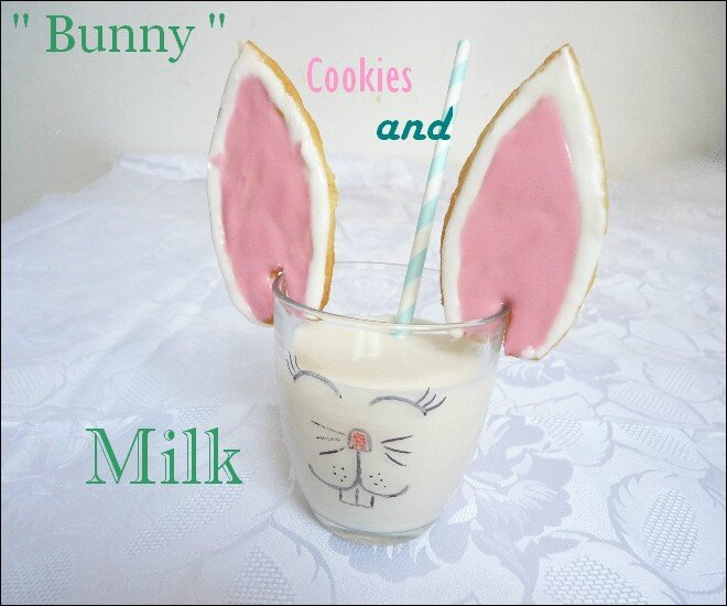 bunny cookies and milk 1