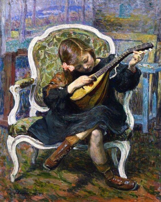 musique Henri Lebasque - Marthe a la mandolinejpg