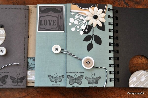 "Plus d'inspiration avec le kit multi pages de mars 2014 ""Ladies & Gentlemen"" par Cathyscrap85"