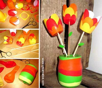 o o bouquet de tulipes r cup tulips bouquet recycling o o cr amalice. Black Bedroom Furniture Sets. Home Design Ideas
