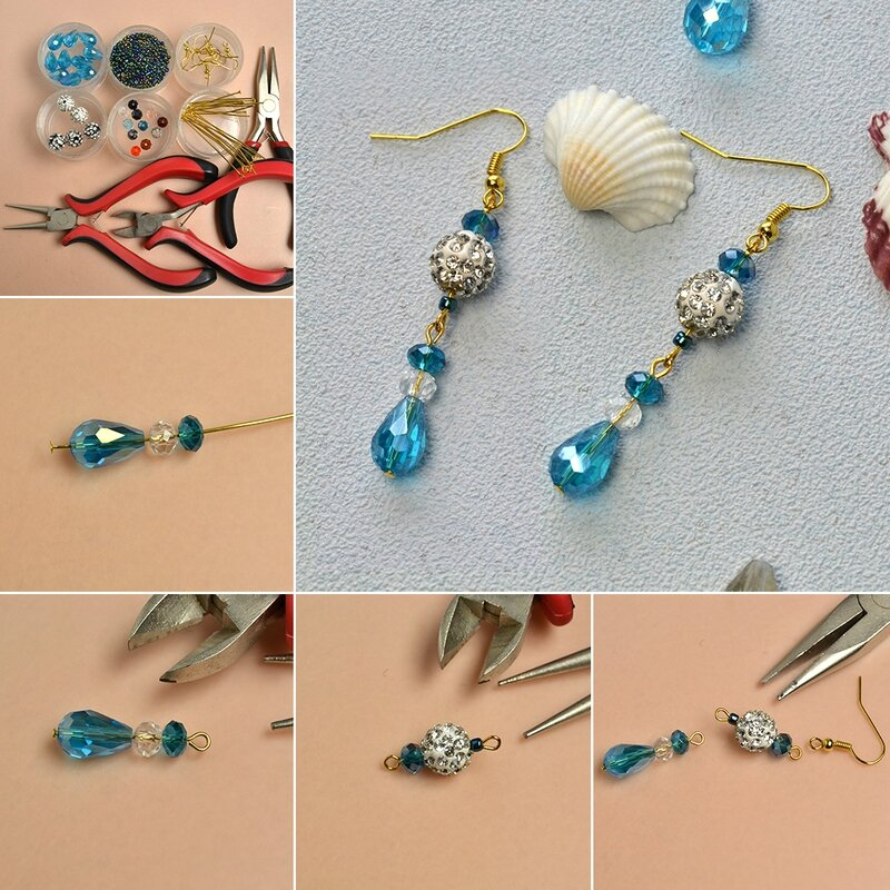 1080-Pandahall-Tutorial-on-How-to-Make-a-Pair-of-Glass-Beaded-Dangle-Earrings