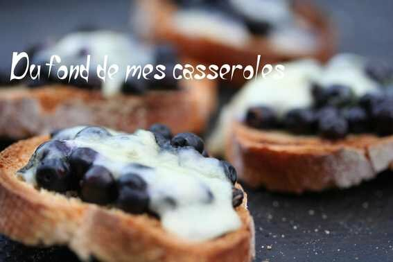 toast myrtilles fromage