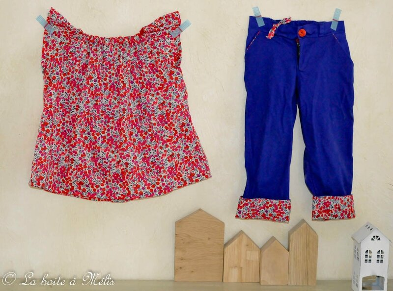ensemble blouse + pantalon wilshire Nais