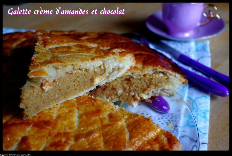 galette crème d'amandes et chocolat