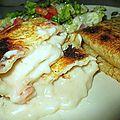 Crêpes fourres fromage et crevettes