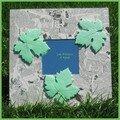 Cadre feuilles de vigne vert