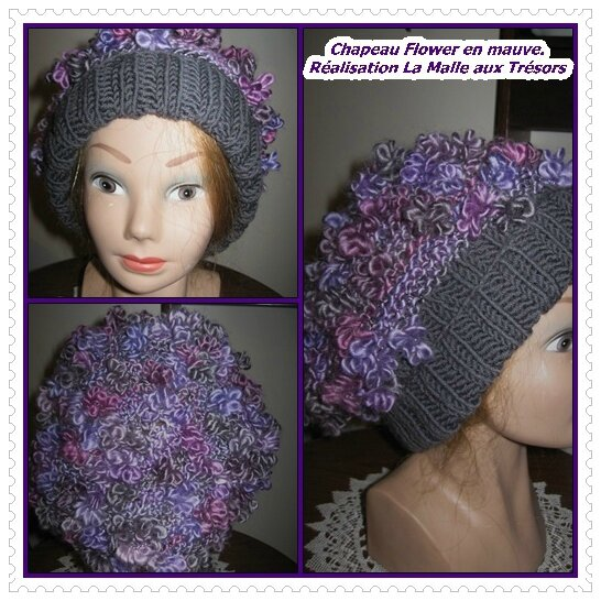 BONNET FLOWER EN MAUVE