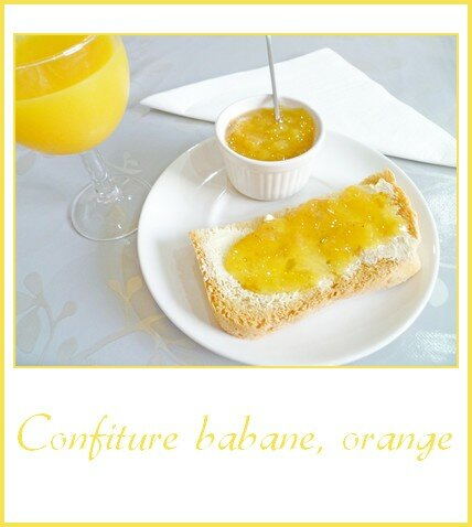 Confiture banane, orange