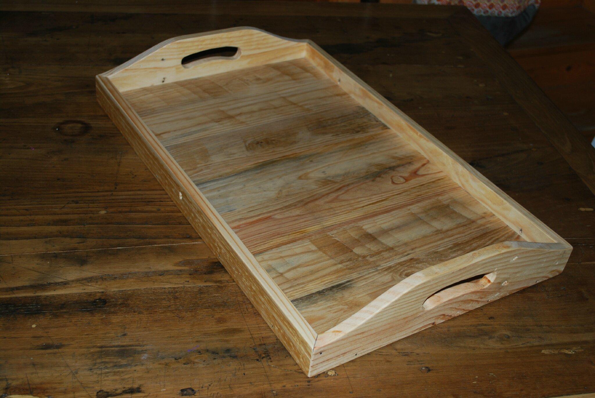 Plateau de service en palettes recycl es au bout du bois - Table de cuisine en palette ...