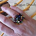 Bague Froufrou multicolore 2