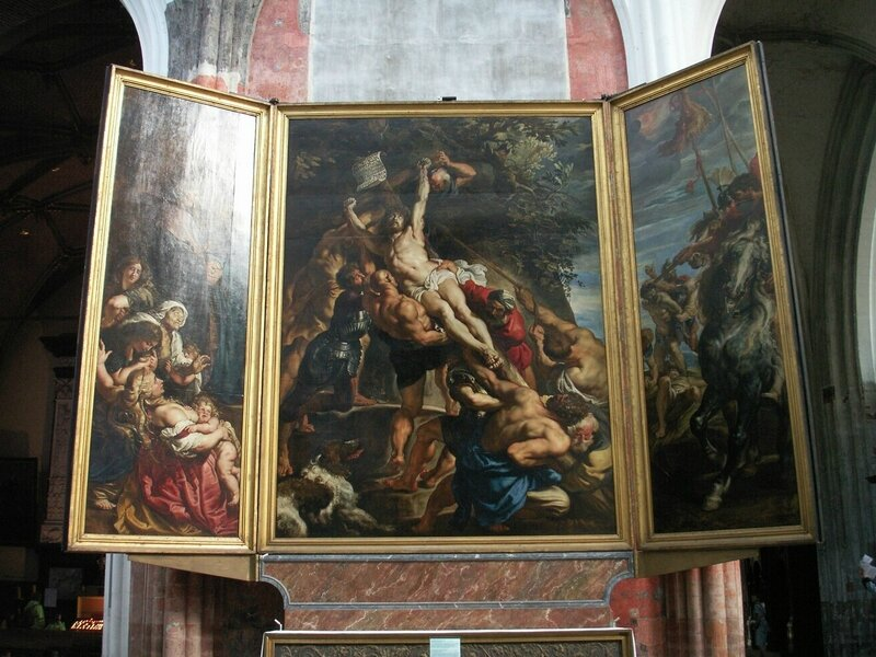 Rubens, l'Erection de la Croix, Anvers