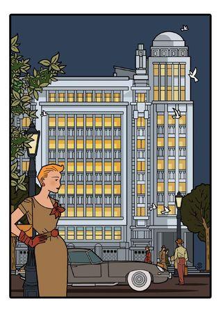 Delius dessinateur dessin version nocturne Antoine COURTENS Palais folle chanson BRUXELLES