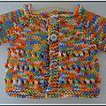 Une brassière ajourée au tricot