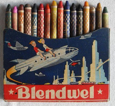 pastal_crayon_fusee_rocket_dessin_ecole__vintage_crayola_blendwel_school_fifties