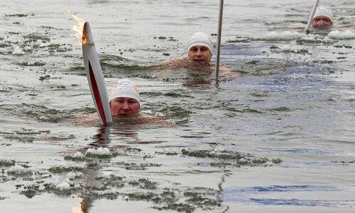 sochi-2014 torch lake
