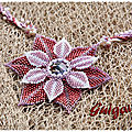 Collier Symply Seeds and Beaded Dahlia