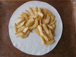 pommes flambees calvados