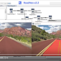 Nexyad adas : road detection using the nexyad module roadnex, on a red road