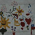 los dibujos en el mural del Portal