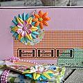 Carte anniversaire et étiquette cadeau