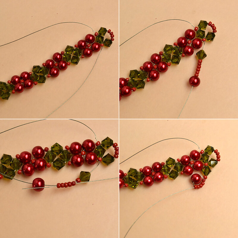 How-to-Make-a-Beaded-Christmas-Bracelet-with-Glass-Beads-and-Seed-Beads-4