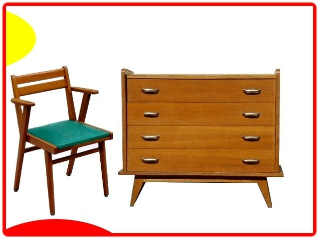 commode vintage 1950 (4)
