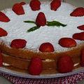 Génoise aux fraises sans gluten
