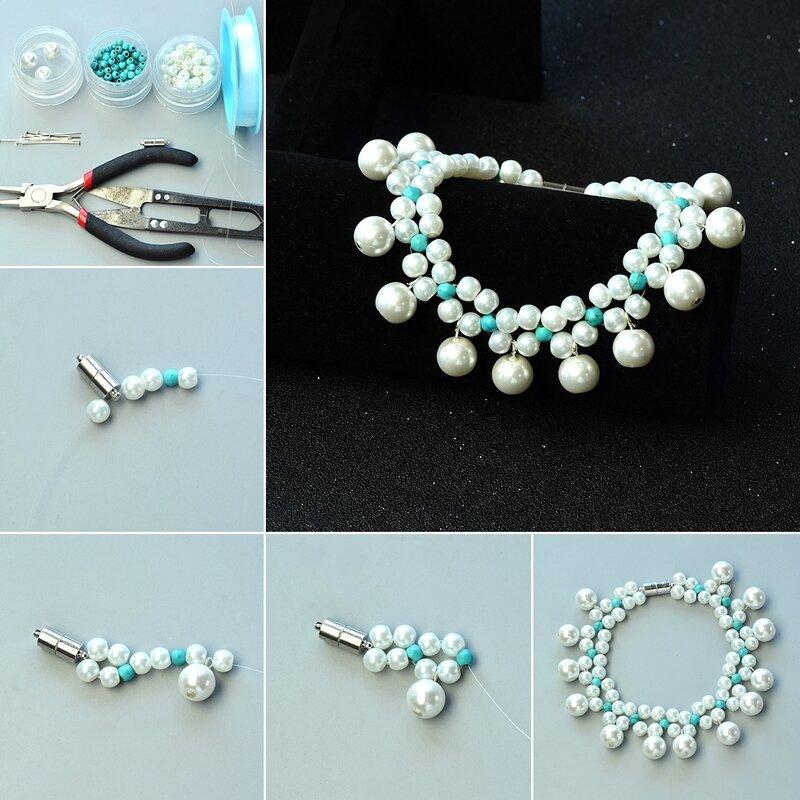 1080-Tutorials-on-Pearl-Bead-Pendant-Bracelet