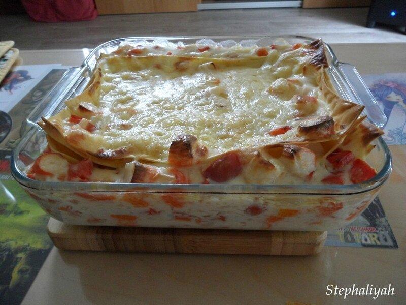 Lasagnes surimi poivron rouge - 11 juin 2017