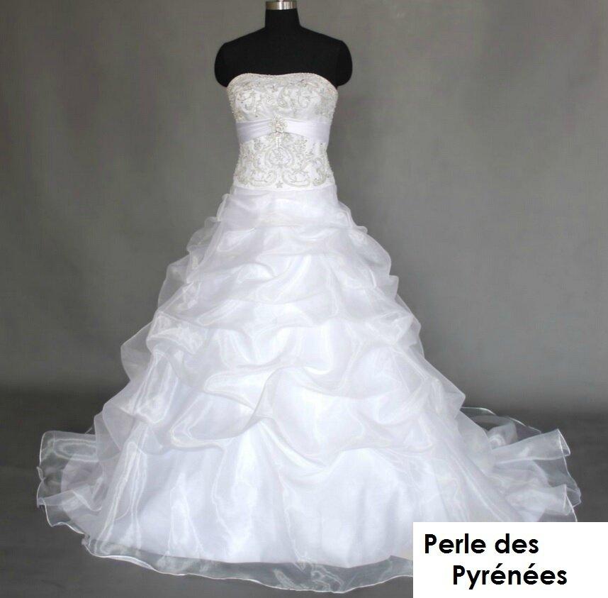 """Robe de mariée """"Jessie"""" 499€ sur commande Taille 34 à 54 , JUPON + PORT OFFERT"""