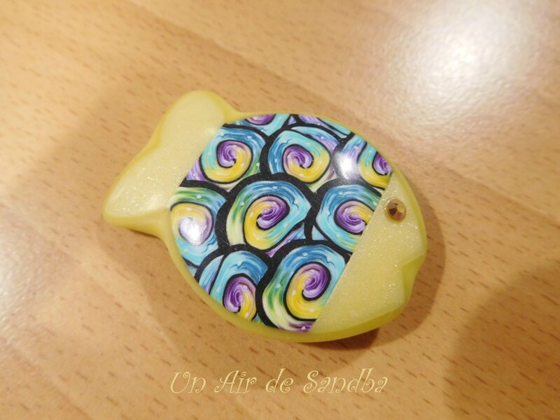 Broche Happy Fish Jaune
