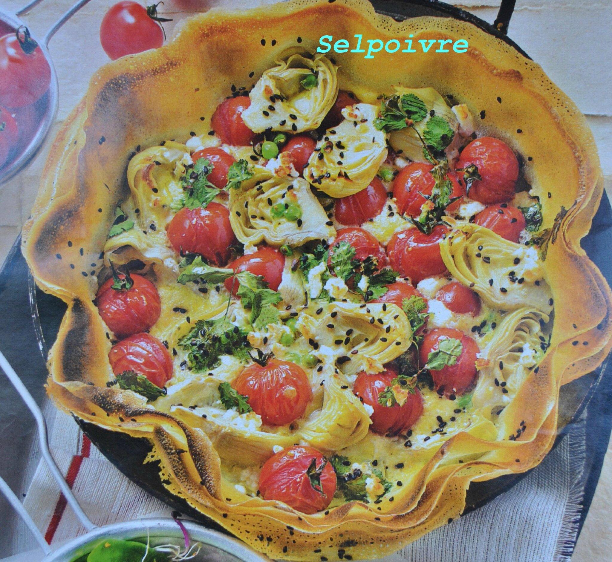 Tarte coeur d 39 artichauts petits pois feta sel et poivre - Cuisiner coeur d artichaut ...
