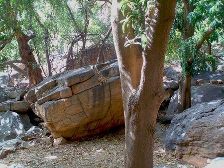 Pause sur bloc rocher DOGONS Mali