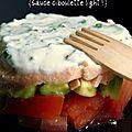 Concassé de tomates, avocat et saumon {sauce ciboulette}