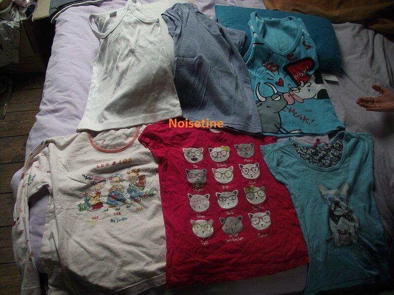 tshirts coussins
