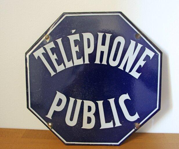 plaque-emaille-telephone-public-face