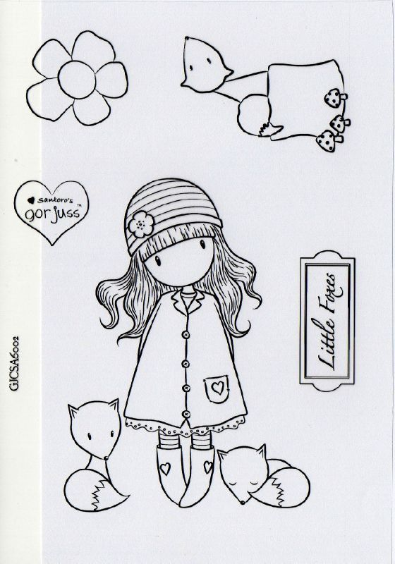 Gorjuss Santoro Spring Brights Stamps Clipart And Coloring Pages
