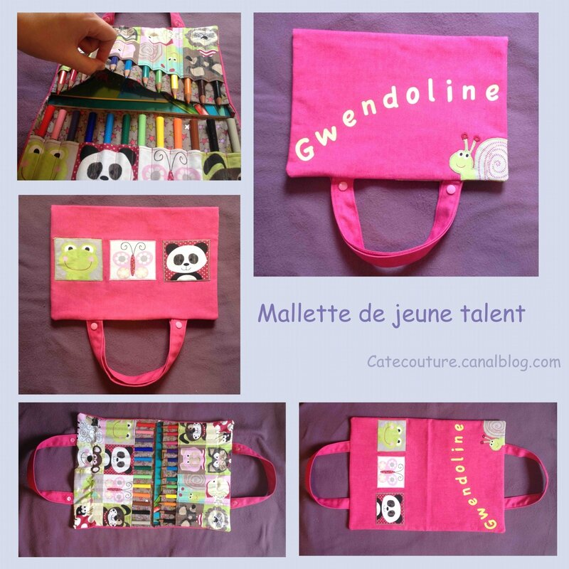 Mallette pour jeunes talents nomades catecouture for Mallette a couture