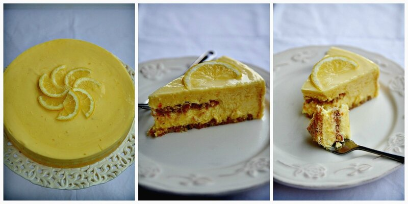 Lemon dessert Collage
