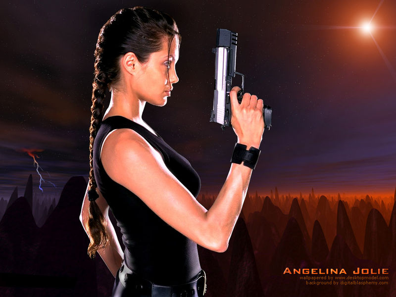 Angelina Jolie - Tomb Raider - Lara Croft - Wallpaper 2