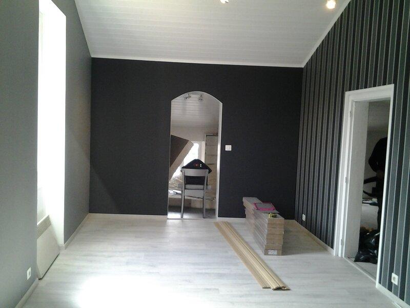 Chambre Pour Un Garcon Et Une Fille : Mur Noir Paillete Chambre Peinture 15 idées sympa pour la chambre de