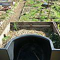 Remplissage des jardinières en hauteur